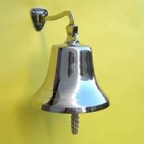 Campanas,campana Grande De Pared De Latón Macizo, Cromad...