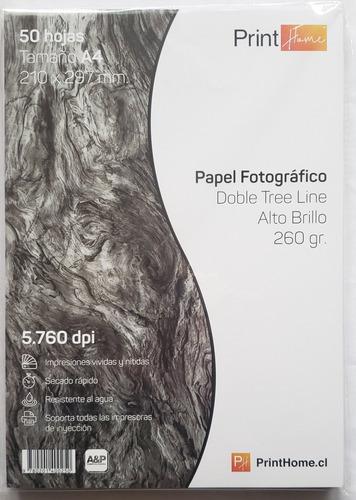 Papel Fotográfico Doble Glossy Textura A4 260gr Tree Line