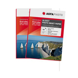 Pack 2 Papel Premium Agfa Glossy 180gr 50 Hojas A4