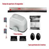 Kit Motor Portón Automático 300kg + Fotoceldas + Cremallera