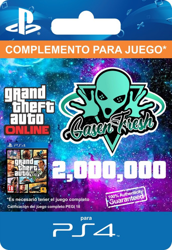 $2.000.000 Dinero Gta V Online - Ps4 - 100% Seguro