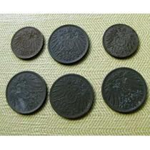 6 Monedas Alemanas Del Deusches Reich 1918 - 1919