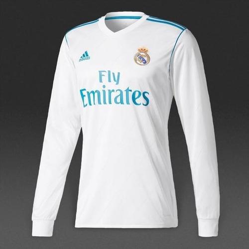 Camiseta Manga Larga Real Madrid Local 2017-18 52432aa990caa