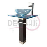 Vanitorio Mdf +vidrio Templado + Griferia 60x50 / Dec-haus