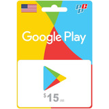 Tarjeta Google Play Gift Card 15 Usd Digital - Prepagochile