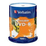 Verbatim Dvd-r 4.7gb 16x Blanco Imprimible Por Inyección De