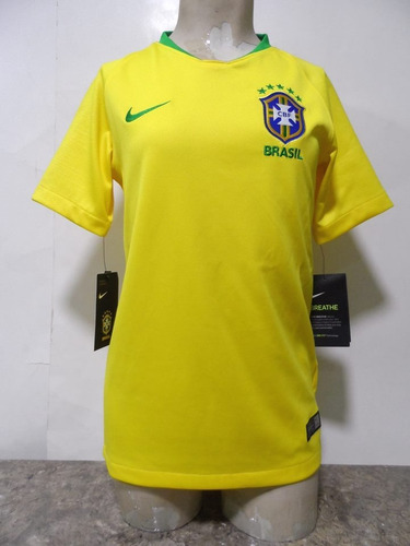 f4fde6679b4 Camiseta Selección Brasil 2018-2019 Niño Nike Nueva Original