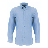 Camisa Oxford Color Azul Claro Kumen
