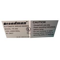 Breadman Tr440 Máquina De Pan De Reemplazo Cuchilla Amasa...