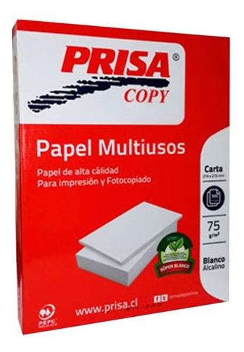 Resma Papel Blanco Carta 75grs 500 Hojas Prisa