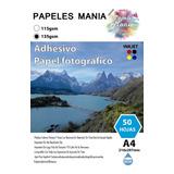 Papel Adhesivo Fotografico Glossy A4 50 Hoja Calidad Premium
