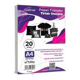 Papel Transfer Telas Oscuras Con Papel Siliconado 20 Hojs A4