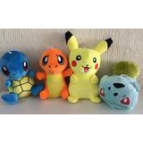 Peluche Pikachu Bulbasaur Squirtle Charmander Set + Envio