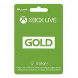 Membresia Xbox Live Gold 12 Meses - Xbox 360 - One
