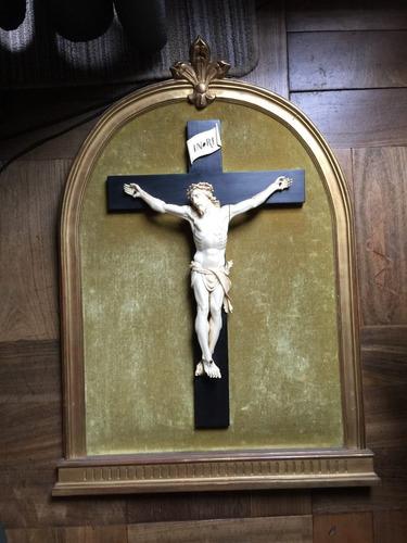 Maravilloso Cristo Tallado En Marf. Siglo Xix Frances Grande