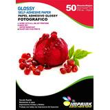 Papel Adhesivo Glossy  A4/135g 500hojas Antioxido Envio Incl