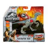 Dinosaurio- Velociraptor Blue- Battle Damage- Jurassic World