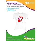 Papel Transfer Premium Telas Blancas 30 Hojas Envio Gratis
