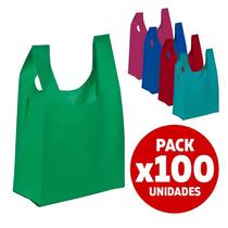 100 Bolsa Reutilizables Reciclables Tnt 70x30cm Fiestaclub