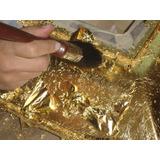 Laminas Pan De Oro 100 Hojas 14x14cm