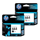 Pack Tinta Hp 664 Negro - Tricolor Original 12 Cuotas - We