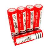 15 X  Bateria 18650 Litio 3.7v 7800mha Red Linternas Li-ion