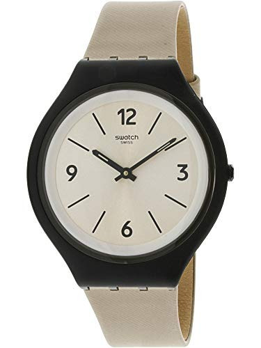 3b07bdc84498 Reloj Swatch Skinsand Svub101 Black Leather Swiss Quartz Fas