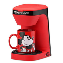 Disney Dcm-123cn Mickey Mouse Cafetera De Un Solo Uso, Rojo
