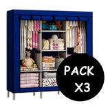 Pack X3 Closet Ropero Armable Organizador Ropa 175x130x45