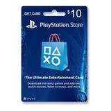 Tarjeta Psn U$10 Digital Usa | Entrega Inmediata - Gamer24hs