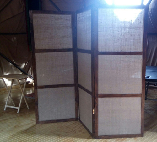 biombos separadores de ambientes en madera