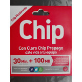 Chips Claro 30min + 100mb Al Mayor