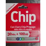 Chips Claro 30min + 100mb Al Mayor