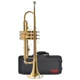 Trompeta Dorada Con Case Etinger - Envío Gratis