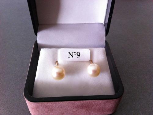 bc7a5e48e67e Aros De Perlas Cultivadas N°9 Con Oro De 18k