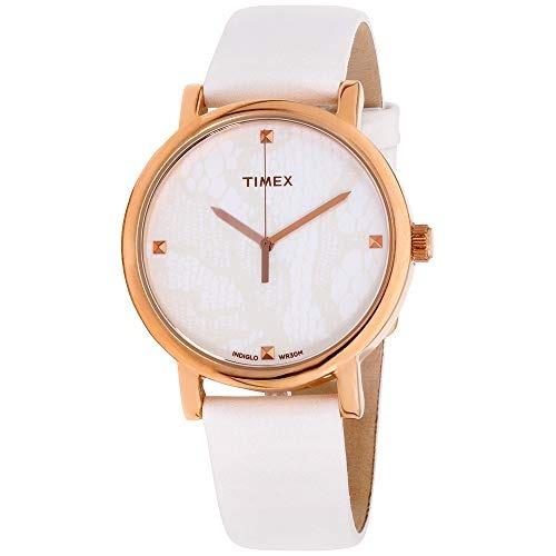 edfb2197dee6 Correa Reloj Timex Mujer Clásicos Esfera Blanca De Piel T2p4