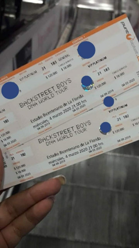 Backstreet Boys Entrada Vip Platinum 4 Marzo (valor Preventa