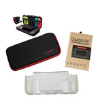 Kit Protección Nintendo Switch Bolso + Mica + Carcasa