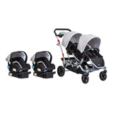 Coche Travel System Duo Ride Gery + 2 Sillas + 2 Bases Infan