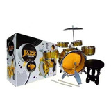Increible Bateria Musical Niños 5 Tambores + Bombo + Piso