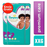 3 Paquetes Pañales Pampers Premium Care 180u. Talla Xxg