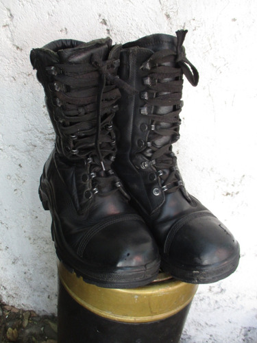 dc47d9513e839 Bototos De Militar De Cuero Color Negro N° 40