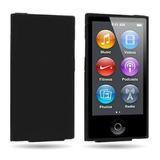 Case Funda Silicona iPod Nano 7 Negro Y Transparente