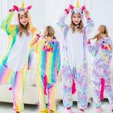 Pijama Unicornio Arcoiris Y Estrellas Adulto Kigurumi
