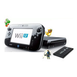 Nintendo Wii U Desbloqueada + Disco Duro 500gb Con 80 Juegos