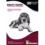 Papel Kraft 300grs Ecologico Imprimible Tamaño A4/100hojas