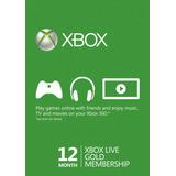 Xbox Live Gold 12 Meses Entrega Inmediata!!