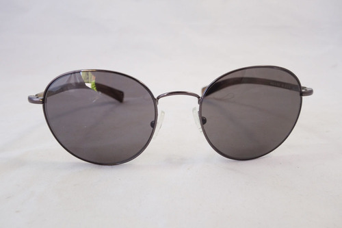 Lentes Sol Calvin Klein 7306s Round Metal Grey Brown Italy L 4b68d891cced