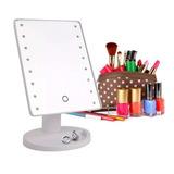 Espejo 16 Luz Led Tactil Maquillaje Usb Portatil Giratorio