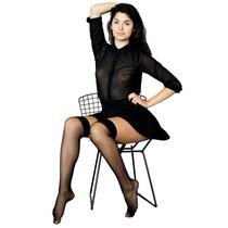 Calcetin De Media Panty American Apparel Sheer Luxe Negro